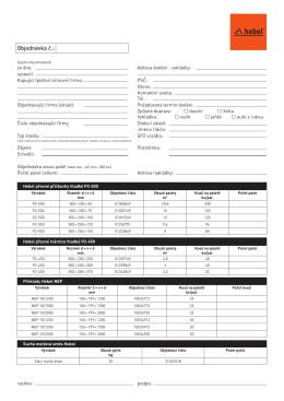 Objednávkový formulář HEBEL