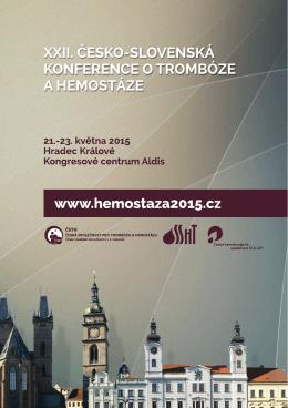 Abstrakta - XXII. česko-slovenská konference o trombóze a hemostáze