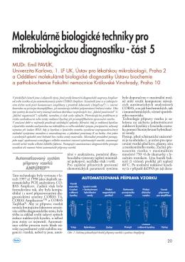 Molekulárně biologické techniky pro mikrobiologickou diagnostiku