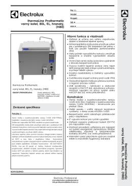 thermaLine Prothermetic varný kotel, 80L, EL, hranatý