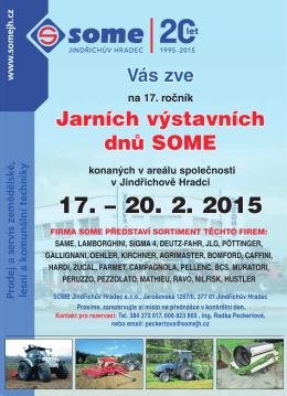 Pozvánka na Jarní dny SOME od 17. do 20. února 2015