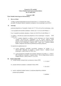 Příloha k usnesení č 1018.xlsx - Státní fond dopravní infrastruktury