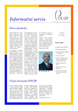 Informační servis 11_2015 - Profesní a odborová unie