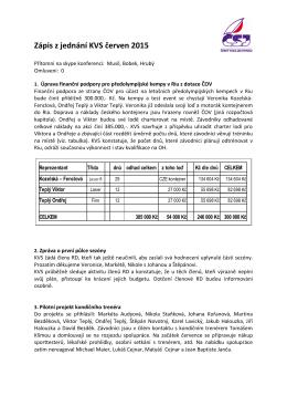Zápis ze schůze KVS – 07-05