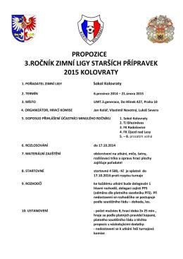 propozice 3.ročník zimní ligy starších přípravek 2015 kolovraty