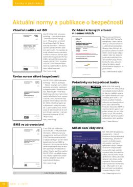 Aktuální normy a publikace o bezpečnosti