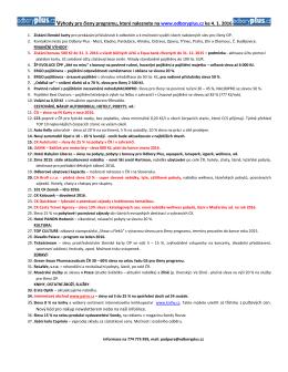 Odbory Plus ke 4. 1. 2016