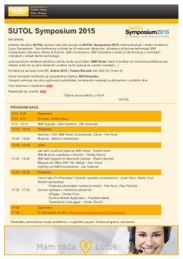 SUTOL Symposium 2015