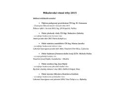 Výsledky MVT dle kategorií
