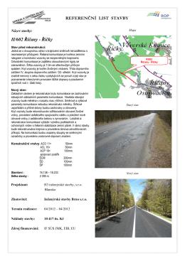 Referenční list stavby - II/602 Říčany