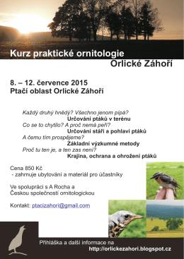 Kurz praktické ornitologie Orlické Záhoří