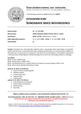 Číslo kurzu: - Česká lékařská komora