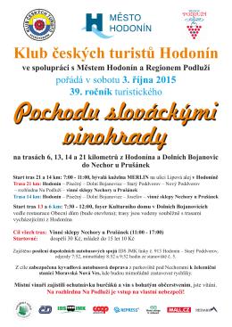 39. ročník Pochodu slováckými vinohrady