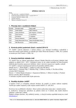 Zpráva 1/2015-16 - Česká asociace stolního tenisu