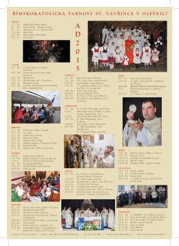 kalendář 2015 - Římskokatolická farnost Olešnice na Moravě