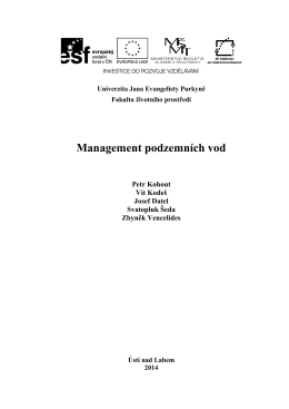Management podzemních vod - Kohout P. - EnviMod