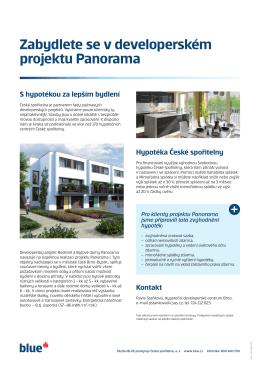 Zabydlete se v developerském projektu Panorama