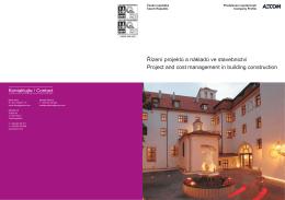 Řízení projektů a nákladů ve stavebnictví Project and cost