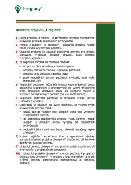 Pravidla účasti v projektu f