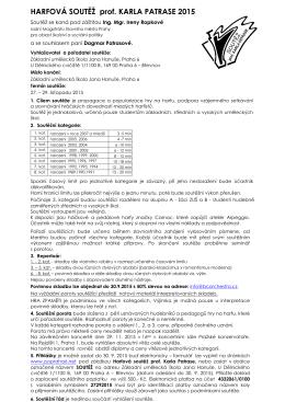 Vyhlášení harfové soutěže - Základní umělecká škola Jana Hanuše