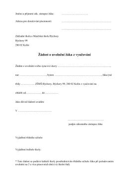 Jméno a příjmení zák - Základní škola a Mateřská škola Býchory