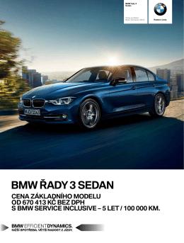Ceník vozů BMW řady 3 Sedan