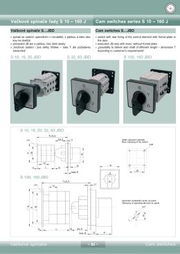 Vačkové spínače řady S 10 — 160 J Cam switches - SEZ