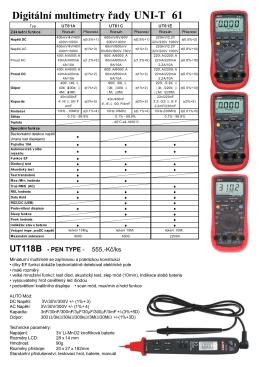 Digitální multimetry řady UNI-T 61