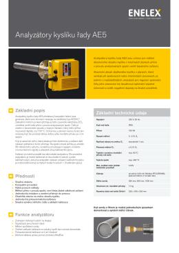 Analyzátory kyslíku řady AE5