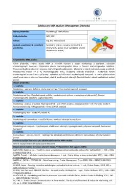 Kompletní sylaby všech předmětů v PDF