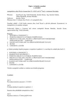 Zápis VZ č.4_2015 +Usnesení veřejného zasedání