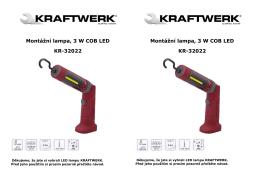 Montážní lampa, 3 W COB LED KR-32022 Montážní lampa, 3 W