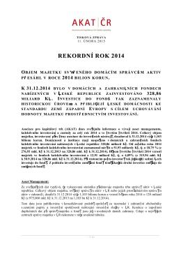 REKORDNÍ ROK 2014 - Asociace pro kapitálový trh