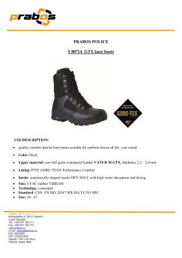 PRABOS POLICE S 80714 GTX knee boots