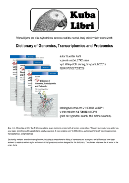 Dictionary of Genomics, Transcriptomics and