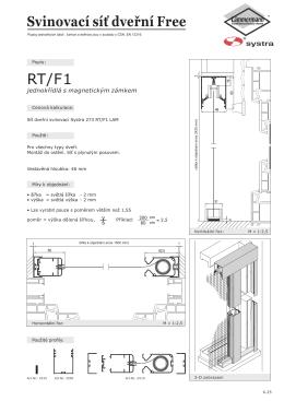 RT/F1 Svinovací sí dveřní Free
