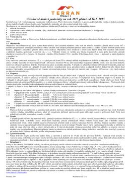 Všeobecné dodací podmínky na rok 2015 platné od