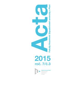 ACTA FF 2015 č. 3 - Fakulta filozofická