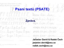 Psaní textů (PSATE)