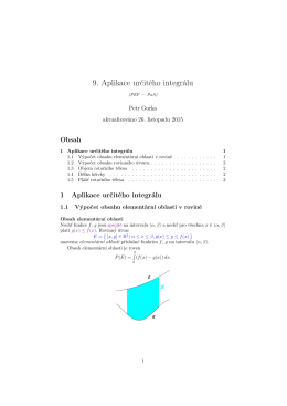 9. Aplikace určitého integrálu