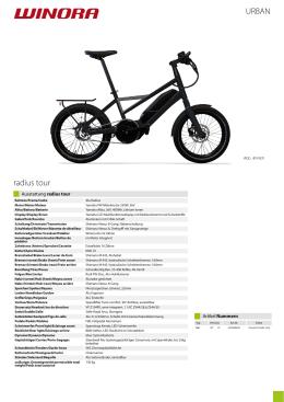 Katalog modelu WINORA radius tour