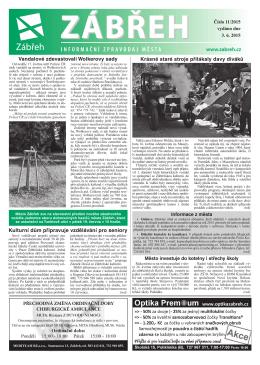 Bulletin Zabreh 15_11.indd - Informační server města Zábřeh