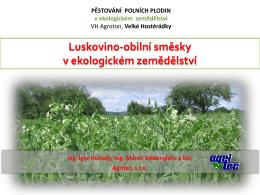 Luskovino-obilní směsky v ekologickém zemědělství