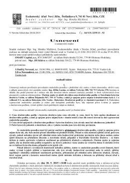 Usnesení - Mgr. Ing. Monika Michlová