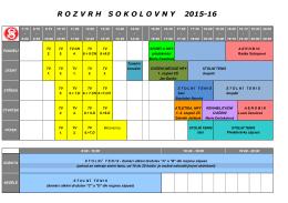 Rozvrh v sokolovně 2015-2016