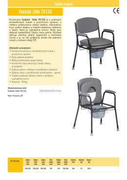 Toaletní židle TS130