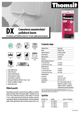Thomsit DX Samonivelační podlahová vyrovnávací hmota