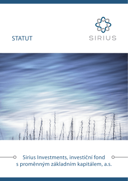 STATUT - Sirius Investments