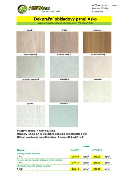 dekorační PVC obklady Asko - ALTOtec