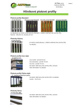 Hliníkové plotové profily